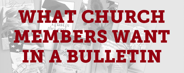 Five Things Church Members Want In A Bulletin Answers