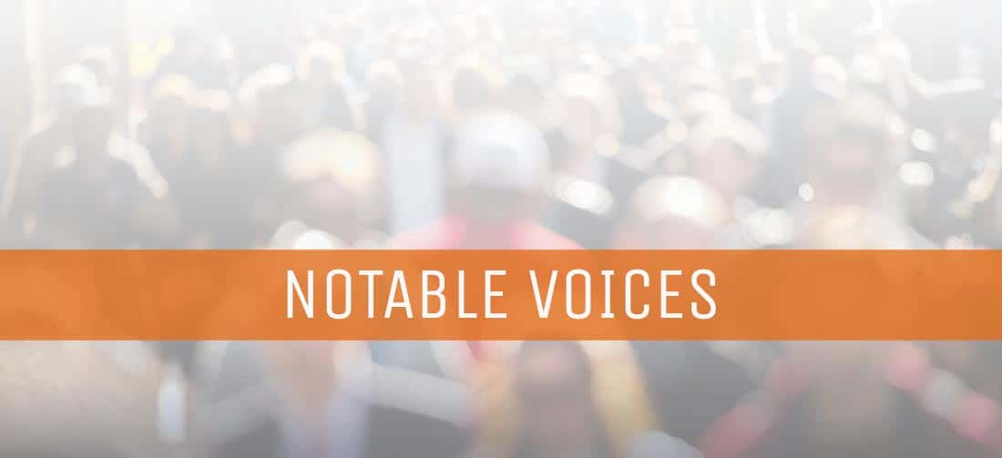 Notable Voices and the Week in Review: January 13, 2018